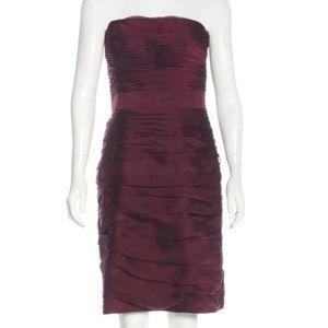 Monique Lhuillier Strapless Cocktail Dress